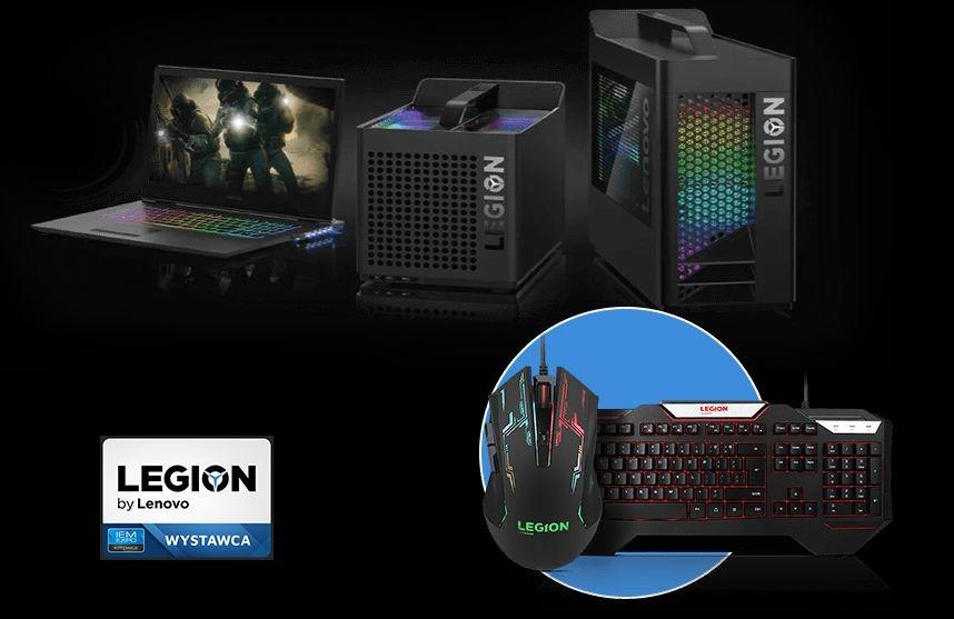 Akcesoria Lenovo Legion w prezencie za zakup laptopów i desktopów dla graczy