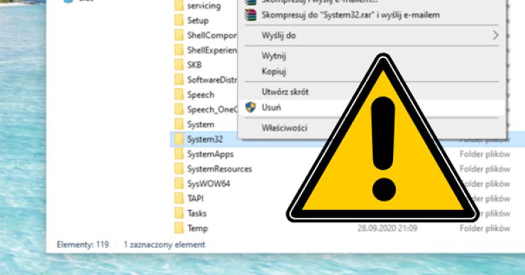 5 plików i folderów w Windows 10, których lepiej nie usuwać
