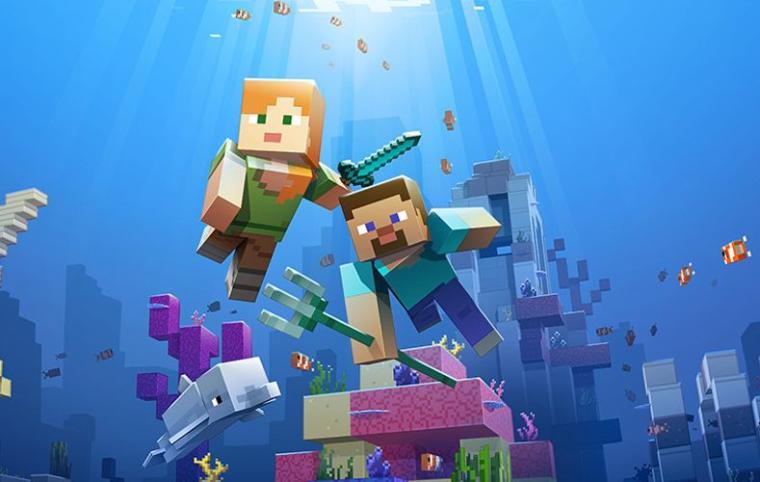 Minecraft otrzymał podwodną aktualizację
