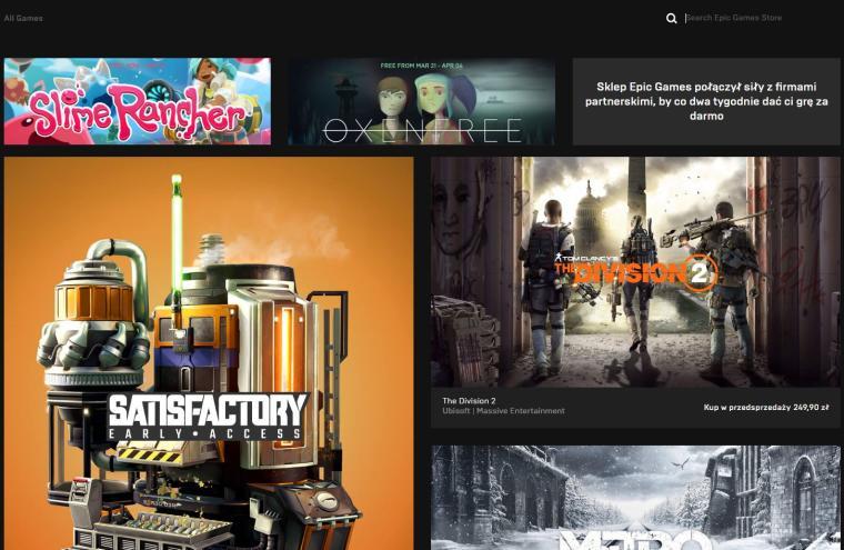 Aplikacja Epic Games Store w końcu z… wyszukiwarką