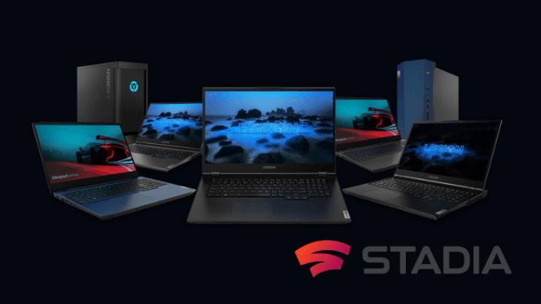Google Stadia Pro za darmo dla nabywców komputerów Lenovo Legion